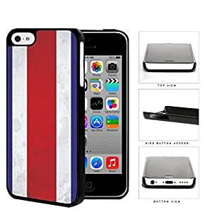Costa Rica Flag Red White and Blue Grunge Hard Snap on Phone Case Cover iPhone 5c
