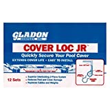 Gladon CLJR5012B 2-Piece Premium Swimming Pool Cover with Securing System