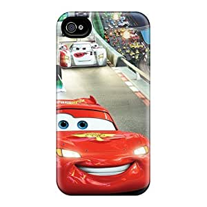 New Premium Flip Case Cover Cars 2 Race Skin Case For Iphone 4/4s