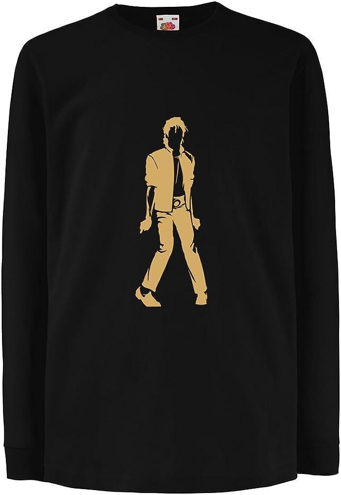lepni.me Camiseta para Niño/Niña Me Encanta M J - Rey del Pop, 80s, 90s Músicamente Camisa, Ropa de Fiesta