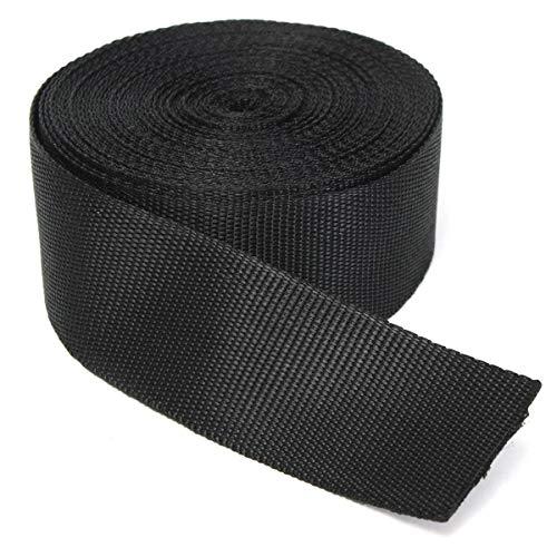 (RETON Black Nylon Heavy Polypro Webbing Straps (50MM, 10 Yards))