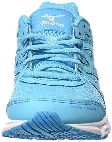 Mizuno Atoll Shadow Silver Femme MD Blue Blue Chaussures Running Synchro Compétition Bleu de Dark r64rO