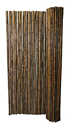 Backyard X-Scapes BAMA-11BLACK Rolled Bamboo Fence, Black
