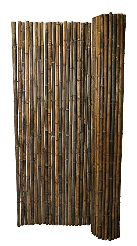 Backyard X-Scapes Black Rolled Bamboo Fence 1in D x 3ft H x 8ft L