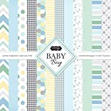 Scrapbook Customs Themed Paper Scrapbook Kit, Baby Boy (3 Pack)