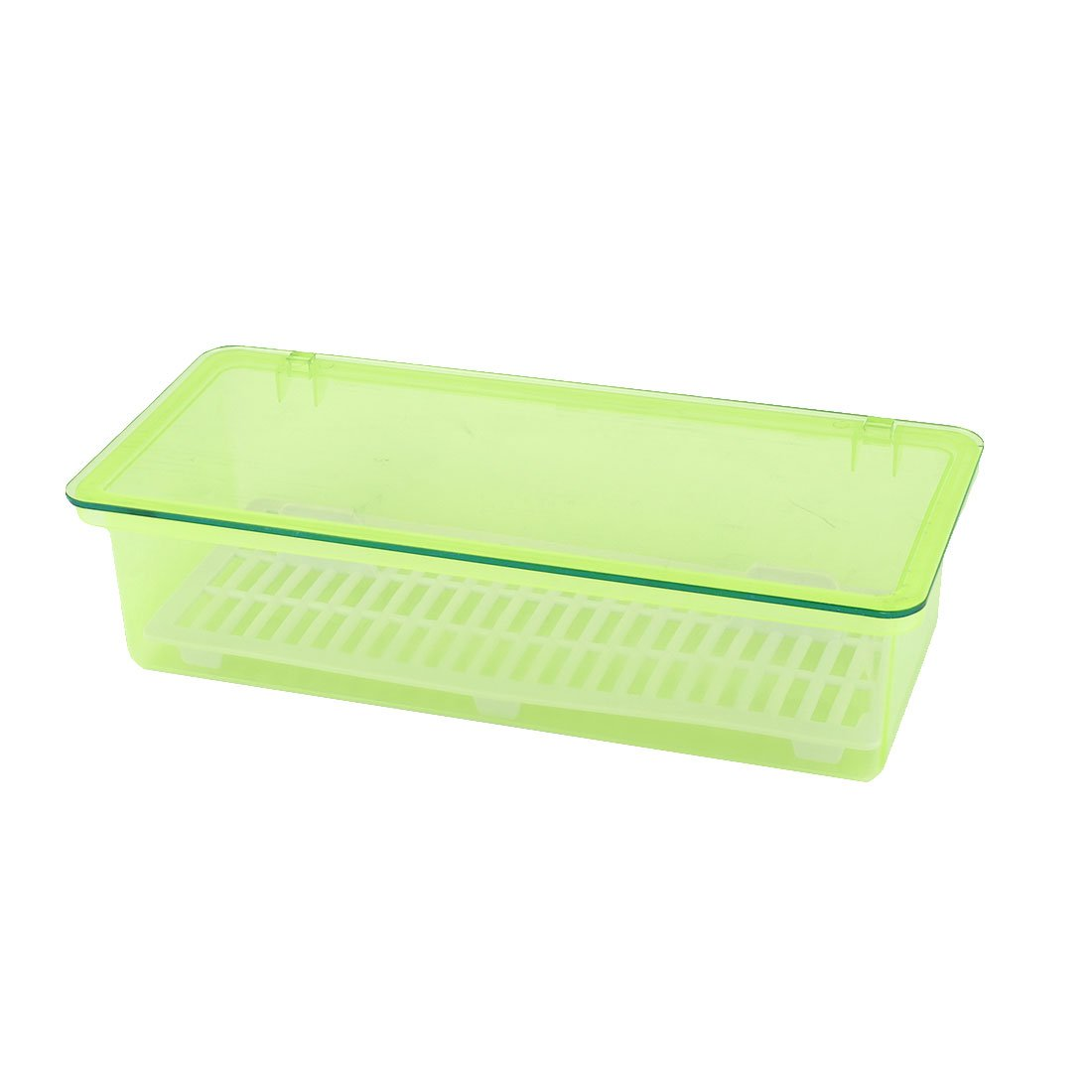 uxcell Plastic Household Kitchen Tableware Chopsticks Storage Box Case Container Green