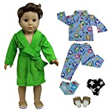 ZITA ELEMENT Doll Clothes - Lot 5 Pajamas Nightdress Outfit Handmade Doll Clothes for 18 inch American Girl Boy Doll Logan Doll XMAS GIFT