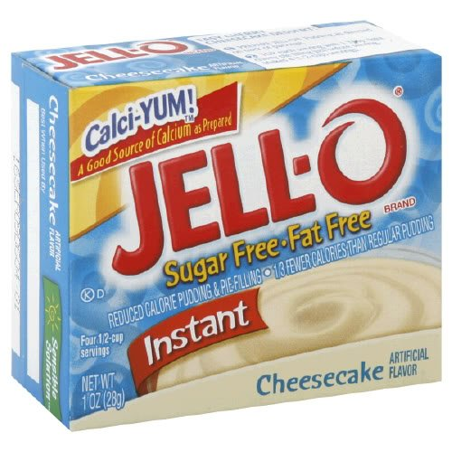 Jell-O Instant Pudding & Pie Filling, Sugar Free, Fat Free Cheesecake, 1 oz (Pack of 24) ()