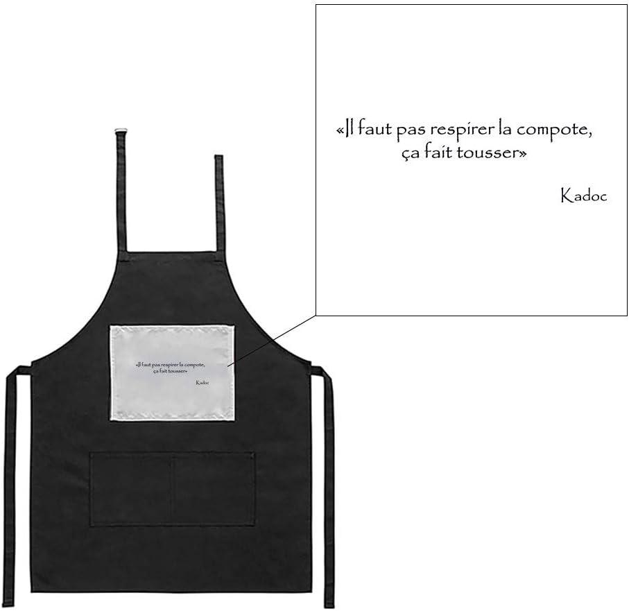 Mygoodprice Tablier Noir de Cuisine Barbecue Kaamelott kadoc Compote imprim/é