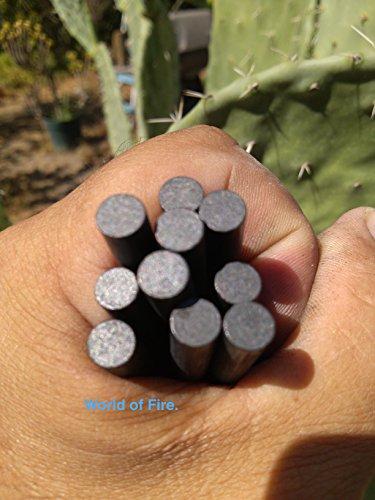 Lot-of-10Mischmetal-firesteel-ferrocerium-rod-ferro-rod-man-made-flint-and-steel