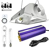 600w hps air cooled - HiHydro Hydroponic 600 Watt HPS MH Grow Light Air Cooled Reflector Kit - Easy to set up, High Stability & Compatibility (Enhanced Version)