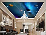 LWCX Custom Photo 3D Ceiling murals Wall Paper Star in The Solar System Decor Painting 3D Wall murals Wallpaper for Walls 3D 200X140CM