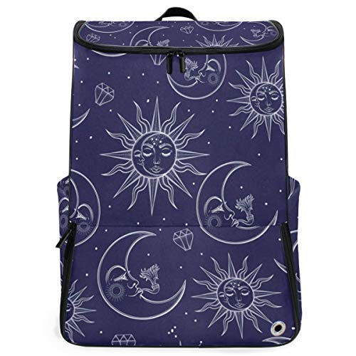 Moon And Stars Large Capacity School College Bookbag Laptop Computer Backpack for Men Women