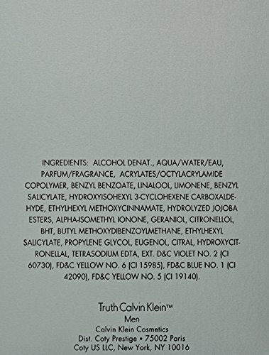 Truth by Clavin Klein for men , Eau De Toilette Spray , 3.4oz