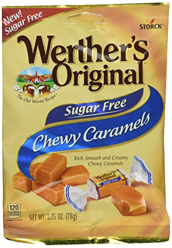 Sugar Free Chewy Caramels 2.75 Ounces (Pack of 2)