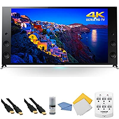Sony XBR75X940C - 75-Inch 4K Ultra HD 120Hz 3D Smart LED HDTV + Hookup Kit