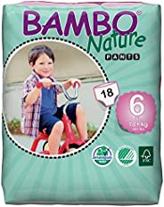 Bambo Nature Baby Training Pants Classic, Size 6 (40+ Lbs), Unscented, Pack of 18 pieces