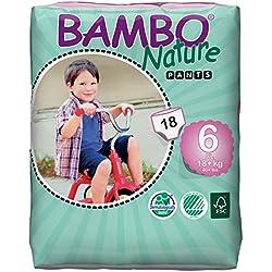 Bambo Nature Premium Baby Training Pants, Size 6, 18 Count