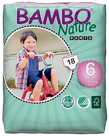 X-Large tama/ño 6 Bambo Nature Paquete de 18 Pa/ñales de Entrenamiento