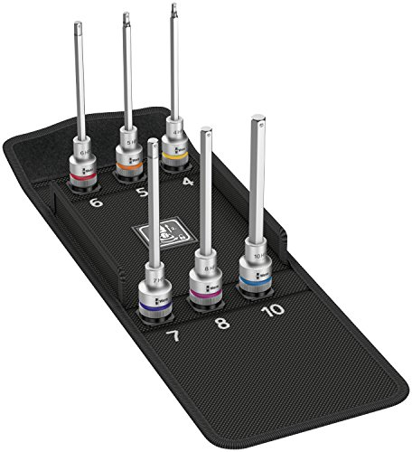 Wera 05004210001 Zyklop Bit Socket Set 8740 C with Holding Function2 (6 Piece) by Wera (Image #1)