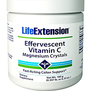 Life Extension Effervescent Vitamin C-Magnesium Crystals, 180 grams