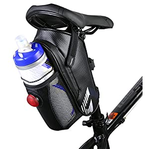Lulutus Waterproof Bike Saddle Bag Bicycle Bag Under Seat,Cycling Accessories,Black
