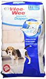 Four Paws Wee-Wee Products Disposable Dog Diapers (12 Pack), Medium
