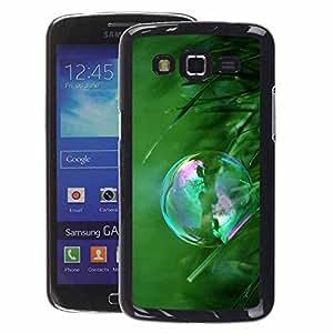 A-type Arte & diseño plástico duro Fundas Cover Cubre Hard Case Cover para Samsung Galaxy Grand 2 (Bubble Grass Green Summer Reflection)