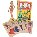 Retro Paper Dolls Set - Fashions from the 50s - 2 Dolls with 24 Outfits