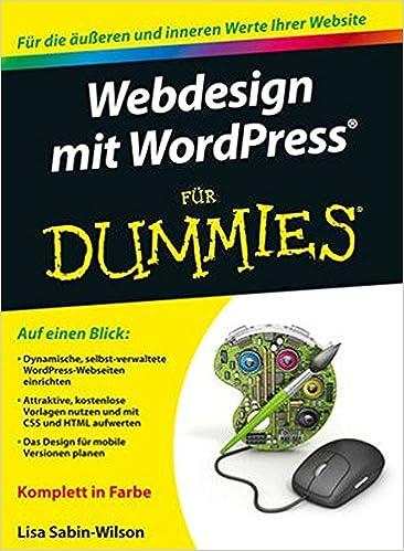Buy Webdesign Mit Wordpress Fur Dummies Fur Dummies Book Online At