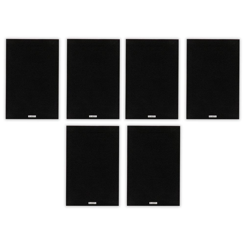 Acoustic Audio PSS-52 Bookshelf 5.25'' Speakers 300 Watt 2 Way Home Theater Audio 3 Pair Pack PSS-52-3PR by Acoustic Audio by Goldwood