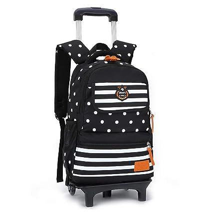 f5f4c0dcf0a5 Amazon.com: Geromg Children School Bags 3/2 Wheels Bags Removable ...