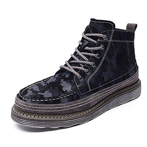 Shoes 01 Feifei Color 3 Size High Camo Keep Warm Cotton EU43 Men's Colors UK9 Help Shoes Retro CN44 Winter v5qFxpnBw6