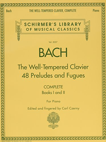 The Well-Tempered Clavier, Complete: Schirmer Library of Musical Classics, Volume 2057 (Schirmer's Library of Musical Classics) (Tapa Blanda)