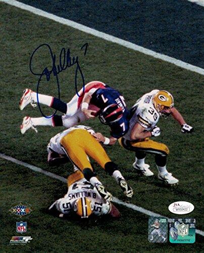 Elway Denver Broncos Super Bowl (John Elway Autographed Denver Broncos Super Bowl XXXII Helicopter 8x10 JSA)