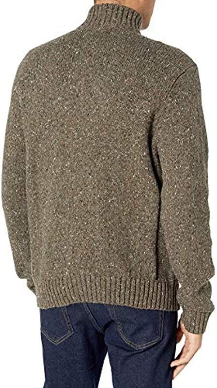 Lucky Brand Męskie Black Friday Donegal Half Zip Mock Neck Sweater Pullover: Odzież