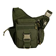 Protector Plus Multi-functional Tactical Military Messenger Shoulder SLR Camera Bag Pack Backpack for hiking camping trekking cycling (Army Green)