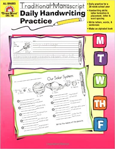Counting Number worksheets handwriting worksheets for grade 2 : Daily Handwriting Practice :Traditional Manuscript: Evan Moor ...