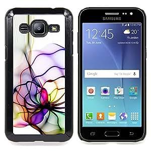 Neon Color Lines Caja protectora de pl??stico duro Dise?¡Àado King Case For Samsung Galaxy J2