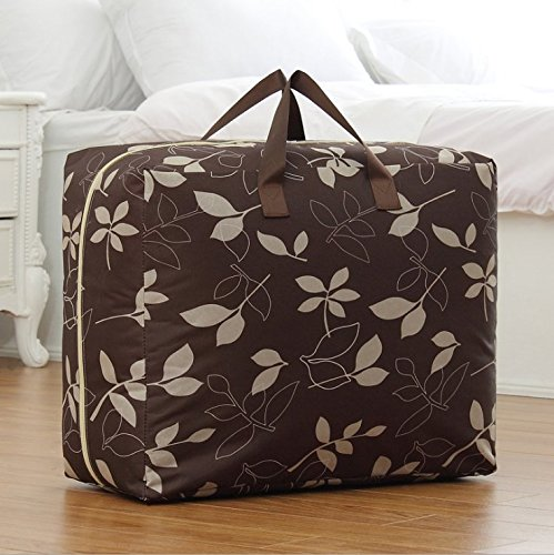 elegantstunning Coffee Oversized Storage bag for Tiding The Quilt Convienient