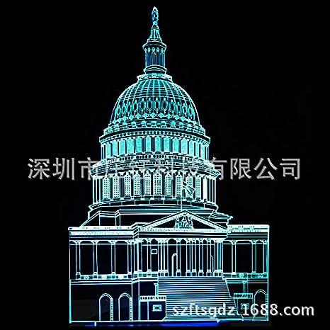 7 colores LED 3D luz de noche ebay caliente 3D noche luz luces de ...