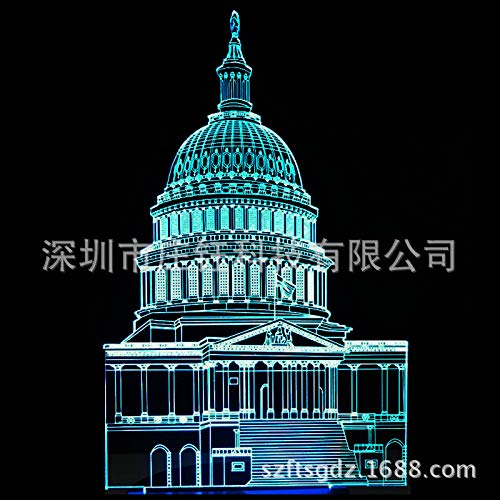 7 colores LED 3D luz de noche ebay caliente 3D noche luz luces de acrilico visuales luces de regalo de Navidad