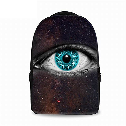 FOR U DESIGNS Large Fashion Khika Eye Creative Design Printed Schoolbags Back to School for College Teens Outdoor Backpack for $<!--$42.99-->