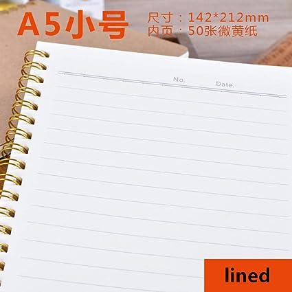 GOUDEDE Cuaderno espiral Cuaderno A5 Cuaderno Kraft Punto en ...