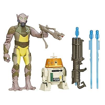 Star Wars Rebels 3.75-Inch Figure 2-Pack Forest Mission Garazeb Orrelios and C1-10P (Chopper)