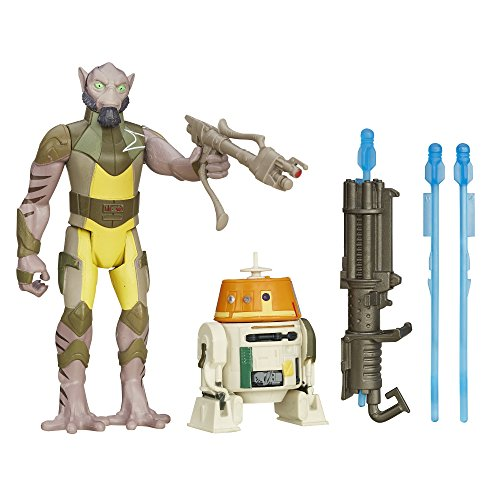 [Star Wars Rebels 3.75-Inch Figure 2-Pack Forest Mission Garazeb Orrelios and C1-10P (Chopper)] (Star Wars Chopper)
