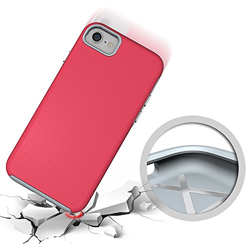 iProtect Apple iPhone 7 TPU Shockproof Combo Outdoor Case Schutzhülle in pink