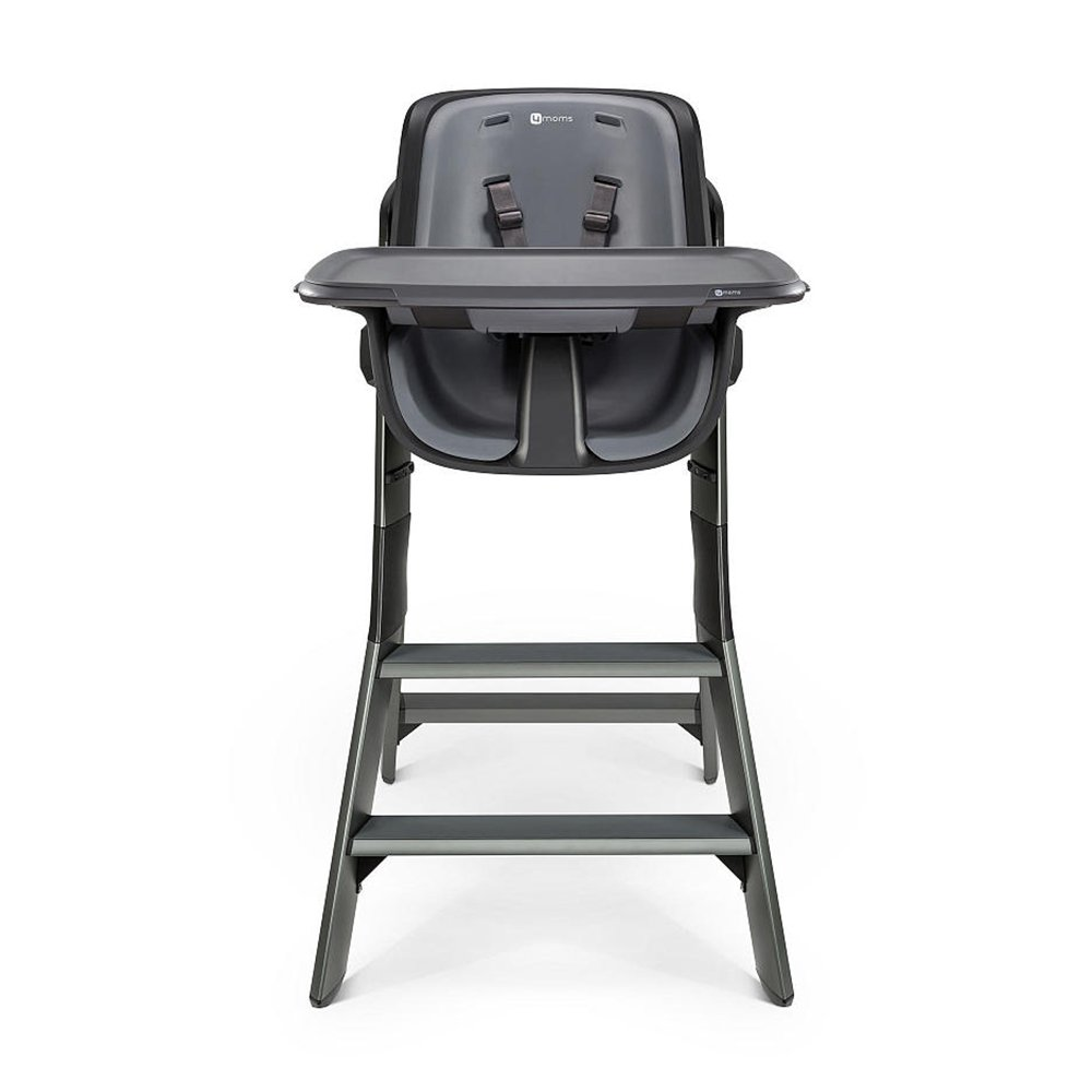 Miraculous 4Moms High Chair Black Grey With Divided Feeding Bowl Ncnpc Chair Design For Home Ncnpcorg