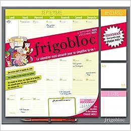 Calendrier Frigobloc 2021 Amazon.fr   Frigobloc 2021 Mensuel   Calendrier d'organisation