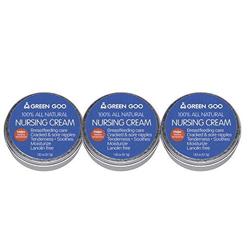 - Green Goo Nursing Cream Large Tin 3 Piece, 5.46 Ounces